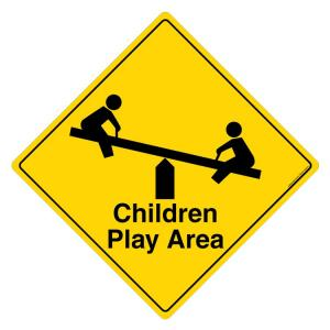 Safety Sign Store Children Play Area Sign Board, FS901-600AL-01
