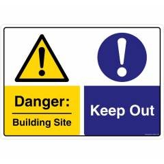 Safety Sign Store Danger: Building Site, Keep Out Sign Board, SS227-A3V-01