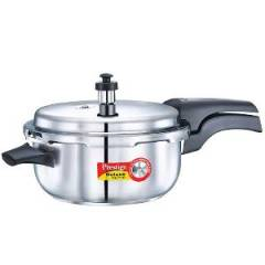 Prestige Deluxe Alpha Base Deep Pan Outer Lid Stainless Steel Pressure Cooker, 20610