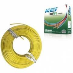 KEI 0.75sqmm 90m Yellow Homecab FR PVC Insulated Unsheathed Multistrand Cable