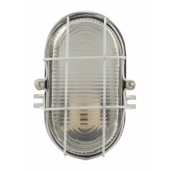 Glow Fixtures White Outdoor Security Bulkhead Wall Mounted Light, BF048AAM-REG