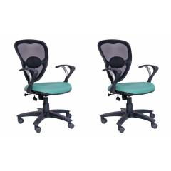 Advanto Medium Back Mesh-Back Workstation Chair, AVPNDG 105 (Pack of 2)