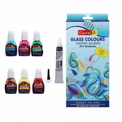 Camlin 10ml 6 Shade Water Based Glass Color Set, 3006629