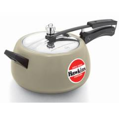 Hawkins Ceramic Coated Contura 5 Litre Tomato Red Pressure Cooker, CAG50
