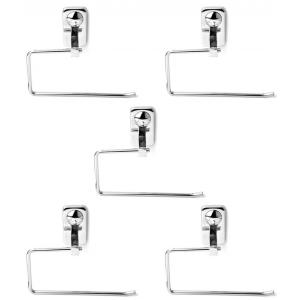 Abyss ABDY-0746 Glossy Finish Stainless Steel Towel Holder/Napkin Ring (Pack of 5)