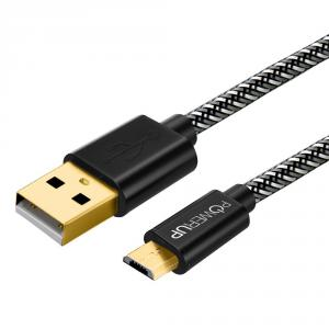 Powerup Black Micro-USB Quick Charging Cable