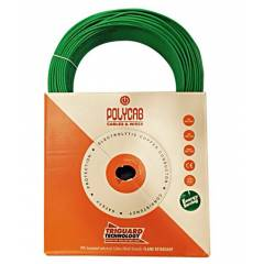 Polycab 1.5 Sq mm Green FRLS PVC Insulated Unsheathed Industrial Cable, Length: 300 m
