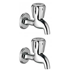 Snowbell Continental Brass Chrome Plated Bibcocks (Pack of 2)