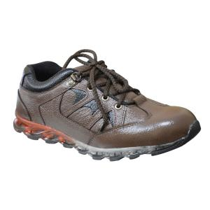 Feetway SFT7BR Genuine Leather Casual Steel Toe Safety Shoes, Size: 9