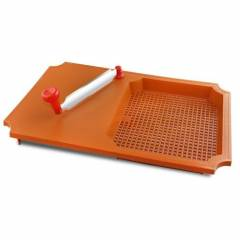 SM Brown Plastic Cut & Wash Chopping Board with Knife