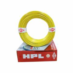 HPL 1 Sq mm Yellow Single Core Unsheathed Household Wire, Length: 200 m