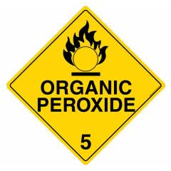 Safety Sign Store Organic Peroxide 5 Sign Board, HW104-600PC-01