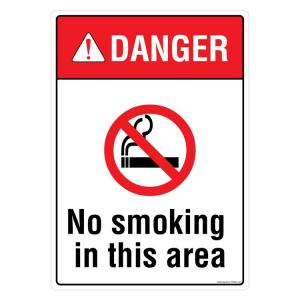 Safety Sign Store Danger: No Smoking In this Area Sign Board, PS424-A3AL-01
