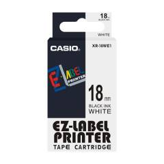 Casio XR-18WE1 Label Printer Tape Cartridge, Length: 8 m