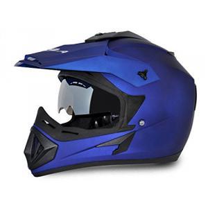 Vega Offroad DV Dull Blue Full Face Helmet, Size (Medium, 580 mm)