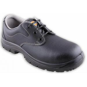 Dickies Men's Shift Black Leather Steel Toe Safety Shoes, Size: 6