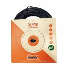 Polycab 4 Sqmm Black FR PVC Insulated Unsheathed Cable, 200m