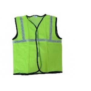 Udit 1 Inch Green Polyester Reflective Safety Jackets (Pack of 10)