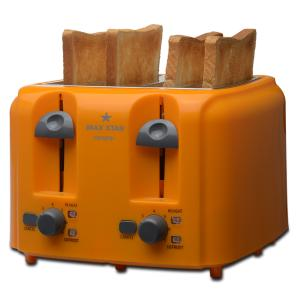 Max Star Crispz+ 4 Slices Pop Up Toaster, PT01