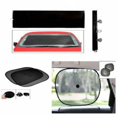 Evergreen Chipkoo Black Front Roller Sunshade Set