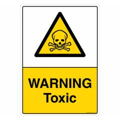 Safety Sign Store Warning: Toxic Sign Board, CW447-A4AL-01