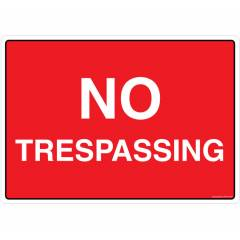 Safety Sign Store No Trespassing Sign Board, PS310-A3PC-01