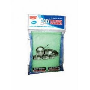 Unique Cozy Green Sponge Scrubber, (Pack of 5)