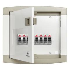 Havells Transparent Three Phase Distribution Boards-DHDNTHODRT08
