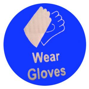 ITE 1x0.5 ft Retro Reflective Wear Gloves Sign Board