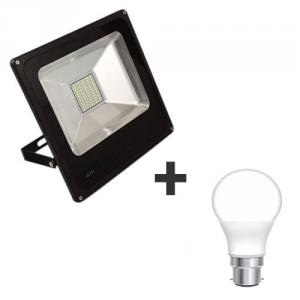 GiGaMax M-02 50W 6500K Waterproof LED Flood Light with Free Urja Lite 4 Pieces 7W LED Bulb