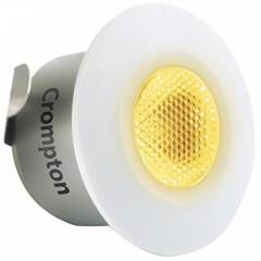 Crompton Star Domestic 2W Round LED Spot Light, LSSR2-WW (Pack of 2)