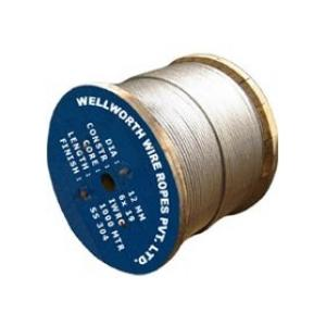 Wellworth 52 mm Ungalvanized Steel(IWRS/SC) Wire Rope, Length: 305 m, Size: 6x36 mm