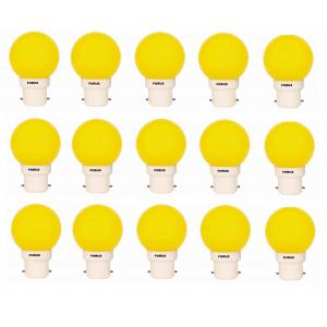FORUS 0.5W  Yellow LED Bulb (Pack of 15)