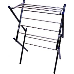 NSD Black Powder Coated Iron Floor Cloth Drying Stand