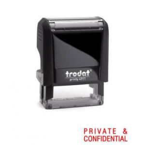 Trodat 219 S-printy Private & Confidental Stamp