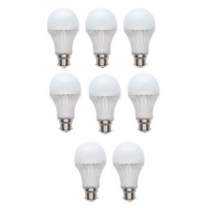 Grind Sapphire 5W E-27 Warm White LED Bulbs, GS-55 (Pack of 8)