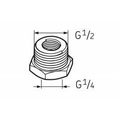 SKF System 24 Automatic Lubricator Acc-Nipple G 1/4-G 1/2