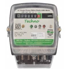 Techno 5-20A Single Phase Static Energy Meter With Counter, TMCB 002