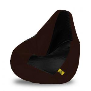 Dolphin DOLBXXL-10 Black & Brown Bean Bag Cover without Beans, Size: XXL