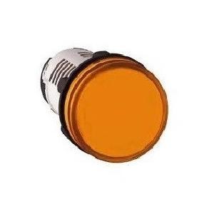 Schneider 120V Amber Pilot Light With Smooth Lens With Direct Integral LED, XB7EV08GPN