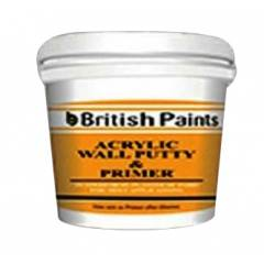 British Paints 10kg Acrylic Wall Putty Cum Primer (Poly Bucket)