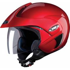 Studds Marshal Motorsports Cherry Red Open Face Helmet, Size (Large, 580 mm)