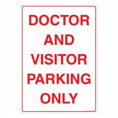 Safety Sign Store Doctor & Visitor Parking only Sign Board, GS304-A3PC-01