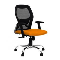 R P Enterprises Apollo Medium Back Orange Office Chair, Dimensions: 45x48x60 cm