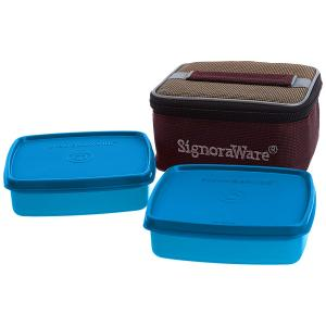 Signoraware Deep Red Best Lunch Box with Bag, 513