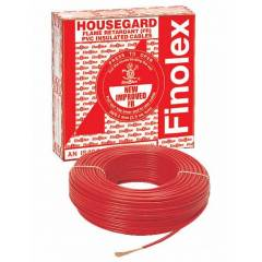 Finolex 90m 6 sq mm Red FR PVC Insulated Industrial Cable, 10307