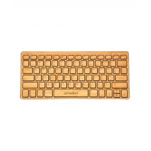 Otimber YLUS0176 Brown Wireless Bamboo Keyboard
