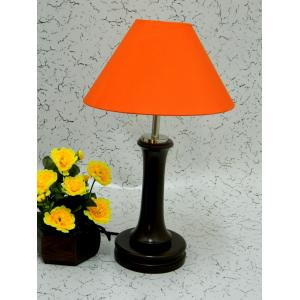 Tucasa Fashionable Wooden Table Lamp with Orange Shade, LG-1013