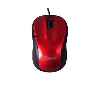 Foxin FOM 1012 Pro Series Red With Black Colour Wired Optical Mouse