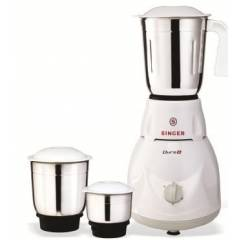 Singer Duro Plus 500W White Mixer Grinder with 3 Jars